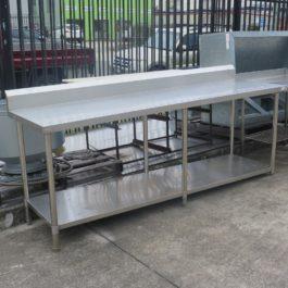 Stainless Steel Workbench with Splashback